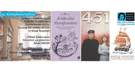 52. Kütüphane Haftası Etkinlikleri