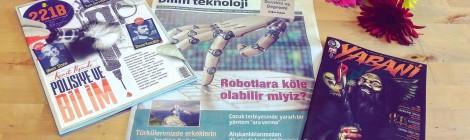 221B, Herkese Bilim Teknoloji ve Yabani Dergi'nin Yeni Sayıları Geldi