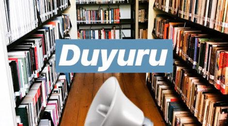 Kütüphanemizin Kapalı Olacağı Duyurusu